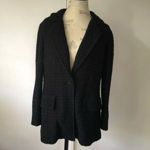 St. John Tweed Sparkle Cardigan Sweater Blazer